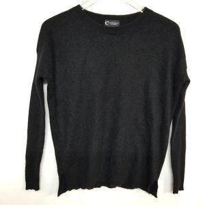 Bloomingdale's Black Cashmere Crewneck Sweater S